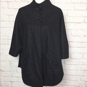 East5th Black Wool Blend Cape size L/XL
